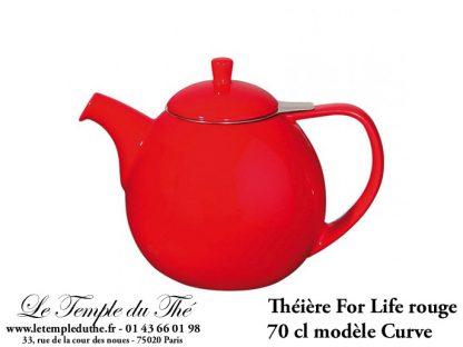 Théière FOR LIFE. Curve 0.7 L rouge