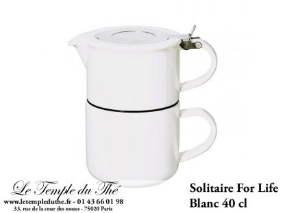 THEIERE FOR LIFE. Solitaire blanc 0.4 L Forlife égoïste
