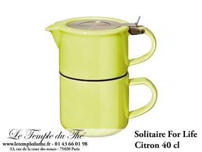 THEIERE FOR LIFE. Solitaire vert citron 0,4 L