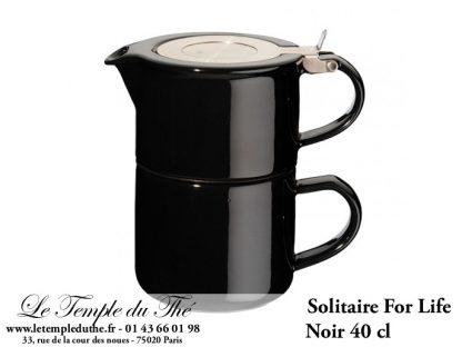 THEIERE FOR LIFE. Solitaire noir 0.4 L