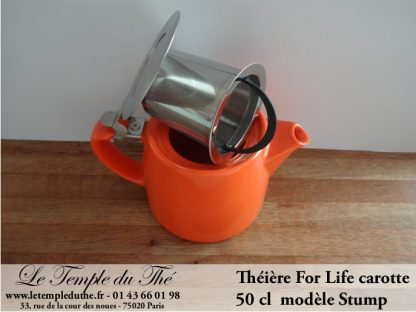 Théière FOR LIFE Stump 0.5 L carotte