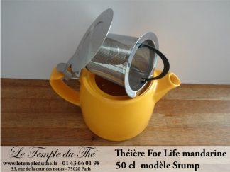 Théière FOR LIFE Stump 0.5 L mandarine