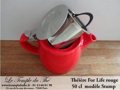 Théière FOR LIFE Stump 0.5 L rouge