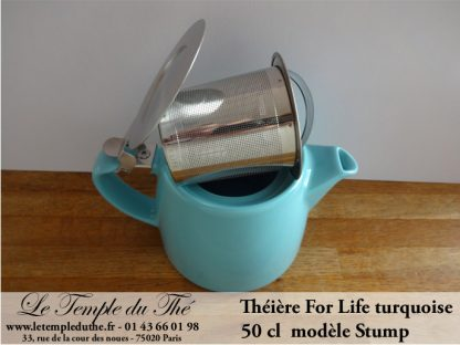 Théière FOR LIFE Stump 0.5 L turquoise