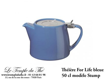 Théière FOR LIFE. Stump 0.5 L bleue