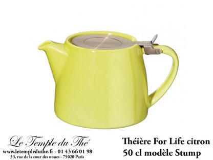 Théière FOR LIFE Stump 0.5 L vert citron