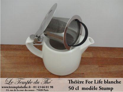 Théière FOR LIFE. Stump 0.5 L blanche