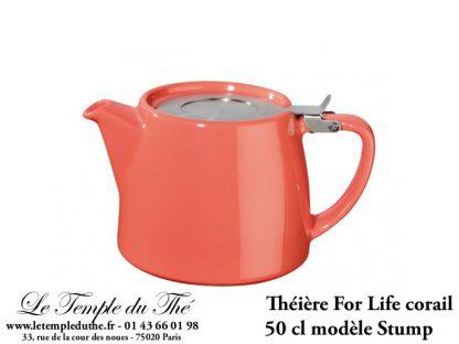 Théière FOR LIFE Stump 0.5 L corail