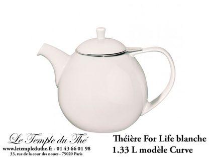Théière FOR LIFE. Curve 1.33 L blanche