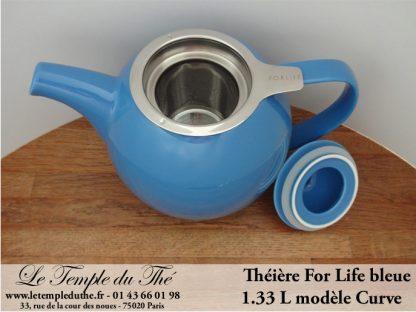 Théière FOR LIFE. Curve 1.33 L turquoise