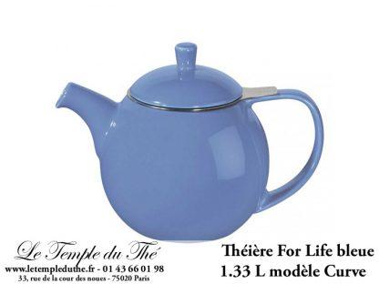 Théière FOR LIFE. Curve 1.33 L bleue