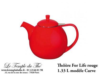 Théière FOR LIFE. Curve 1.33 L rouge
