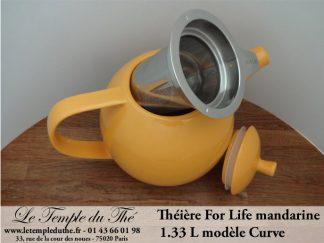 Théière FOR LIFE. Curve 1.33 L mandarine