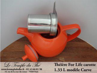 Théière FOR LIFE. Curve 1.33 L carotte