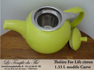 Théière FOR LIFE. Curve 1.33 L vert citron