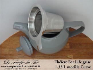 Théière FOR LIFE. Curve 1.33 L grise