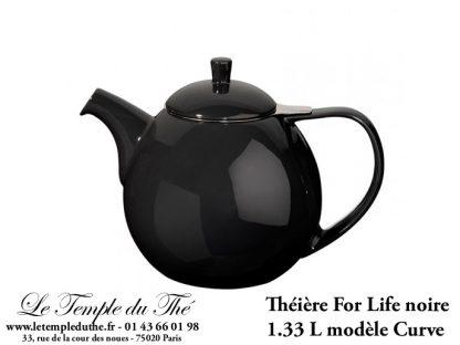 Théière FOR LIFE. Curve 1.33 L noire