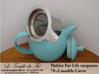 Théière FOR LIFE. Curve 0.7 L turquoise