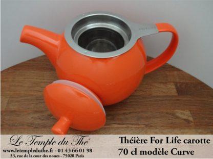 Théière FOR LIFE. Curve 0.7 L carotte
