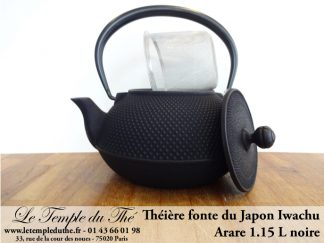 Théière Iwachu 1.15 L noire Théière en fonte arare Théière du Japon
