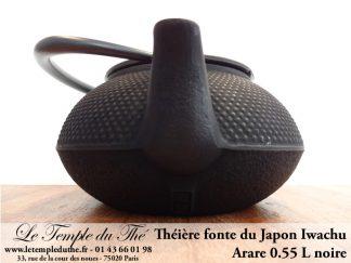 Théière Arare IWACHU Japon 0.55 L noire