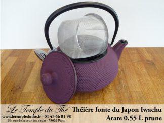Théière Arare IWACHU Japon 0.55 L prune à Paris