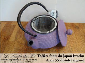 Théière Arare IWACHU Japon 0.55 L violet argenté