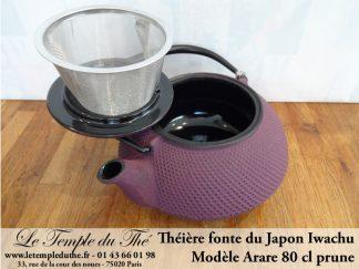 Théière Arare IWACHU Japon 0.8 L prune
