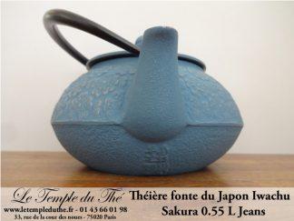 Théière en fonte japonaise Iwachu modèle Sakura Jeans