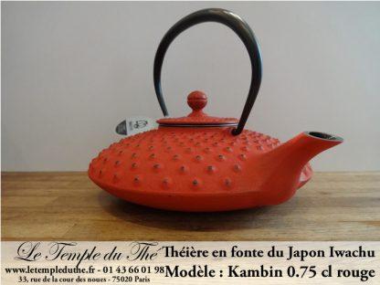 Théière en fonte du Japon Iwachu Kambin rouge 0.75 L