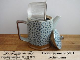 Théière japonaise 50 cl petites fleurs