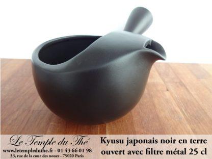 Kyusu noir japonais en terre ouvert 25 cl