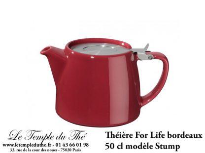 Théière FOR LIFE Stump 0.5 L bordeaux