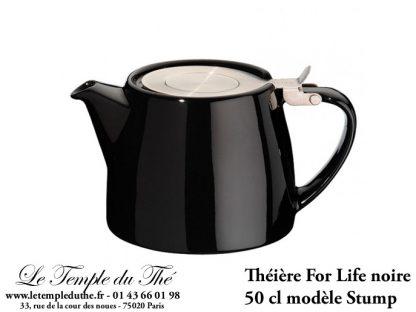 Théière FOR LIFE. Stump 0.5 L noire