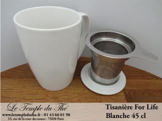 Tisanière ForLife 45 cl blanche