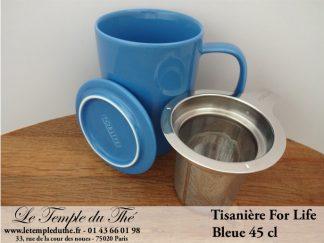 FOR LIFE. Tisanière 45 cl bleue
