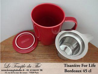 FOR LIFE. Tisanière 45 cl bordeaux
