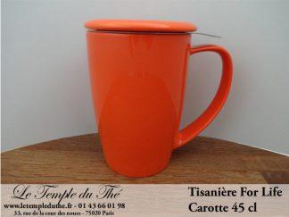FOR LIFE. Tisanière 45 cl carotte