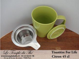 FOR LIFE. Tisanière 45 cl vert citron