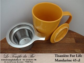 FOR LIFE. Tisanière 45 cl mandarine