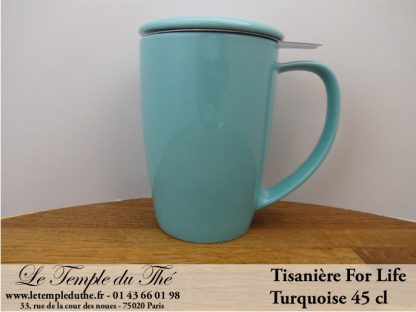 FOR LIFE. Tisanière 45 cl turquoise