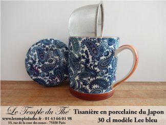Tisanière en porcelaine du Japon 30 cl Lee bleu