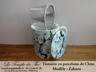 Tisanière en porcelaine de Chine Zakura 30 cl