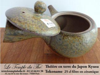 TOKONAME Kyusu du Japon en terre avec filtre en céramique 25 cl