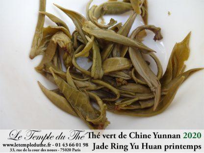 Thé vert de Chine Yunnan Jade Ring Yu Huan printemps 2020